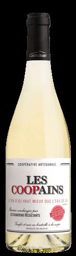 Bouteille vin les Coopains blanc castelbarry