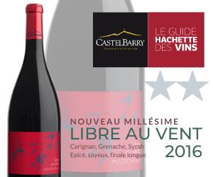 Guide Hachette: Libre au Vent AOP Montpeyroux