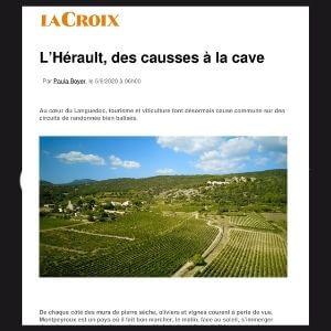 PRESSE: «Balade en France, l'Hérault, des causses à la cave»
